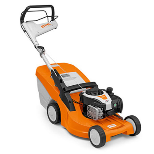 RM 448 TC Robust petrol lawn mower with mono-comfort handlebar