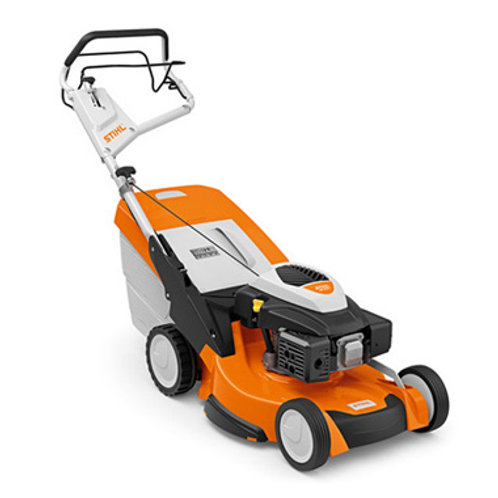 RM 655 V High performance petrol lawn mower with 3-in-1 mowing system