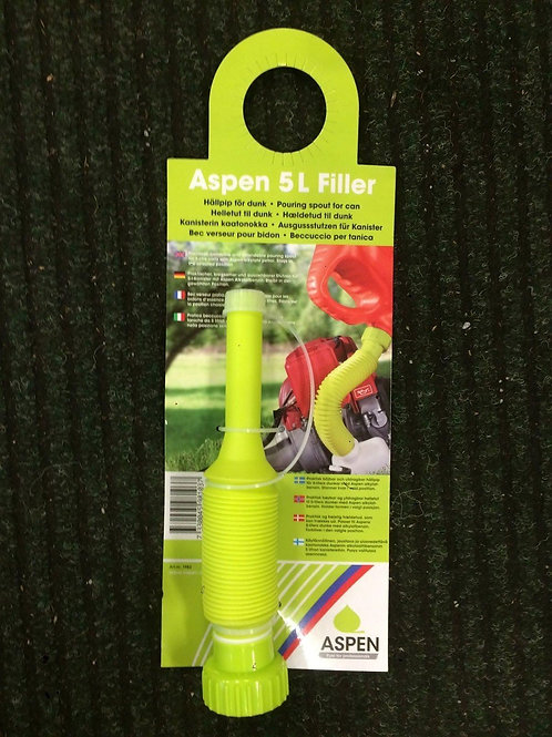 GENUINE ASPEN FUEL 5L LITRE FLEXIBLE FILLER POURER FUNNEL FOR LAWNMOWERS