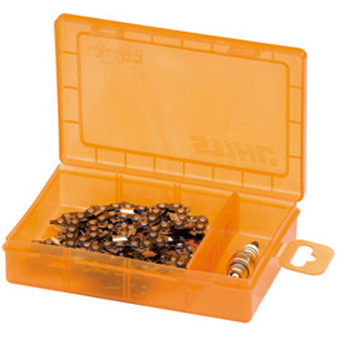 Storage case for saw chains