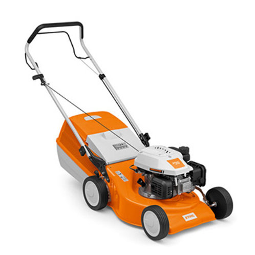 RM 248 Manoeuvrable petrol lawn mower with 46 cm cutting width.