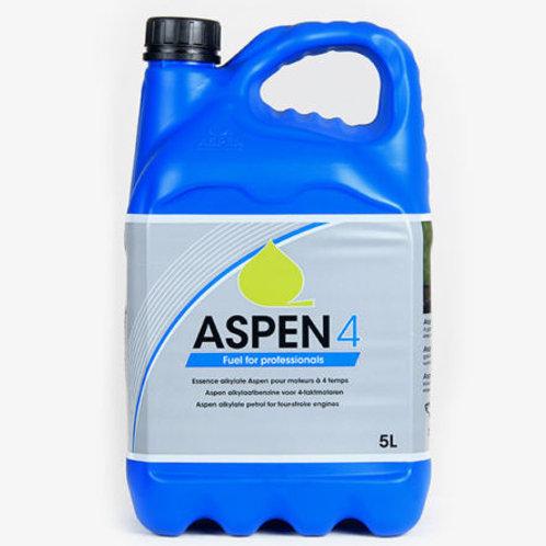 ASPEN 4 ALKYLATE PETROL / FUEL 5 LITRE FOR LAWNMOWERS & FOUR STROKE ENGINES