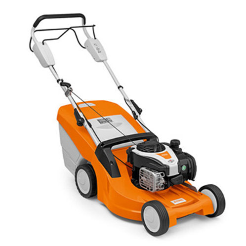 RM 448 T Robust petrol lawn mower with 1-speed drive