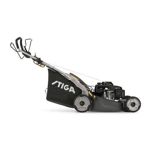 Stiga TWINCLIP 55 S H BBC petrol self propelled four wheeled lawn mower (53cm cu