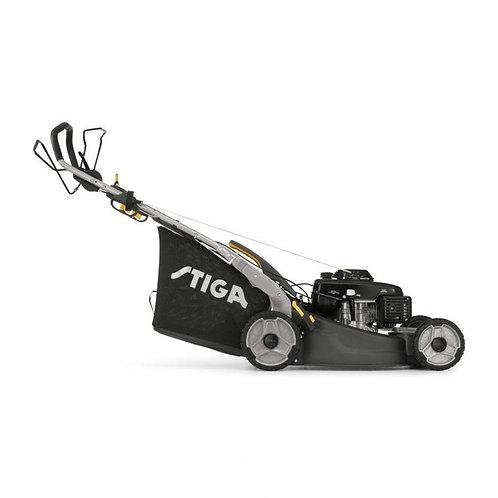 Stiga TWINCLIP 55 S H BBC petrol self propelled four wheeled lawn mower (53cm cu