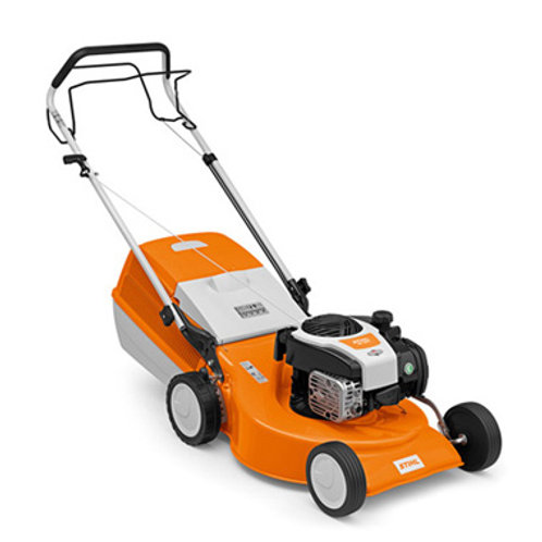 RM 253 T Petrol lawn mower with wide cutting width and 1-speed drive