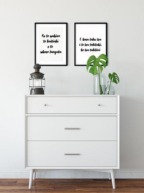 Black and White Print Combo