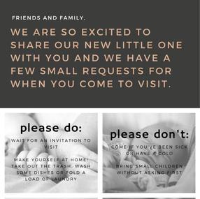 Newborn Visitors Poster
