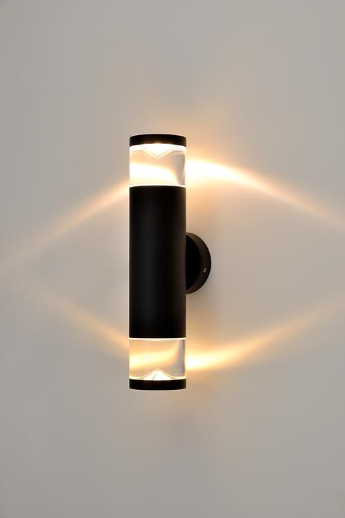 GLASS PERSPEX UP/DOWN PILLAR LIGHT (ST5089/BK)