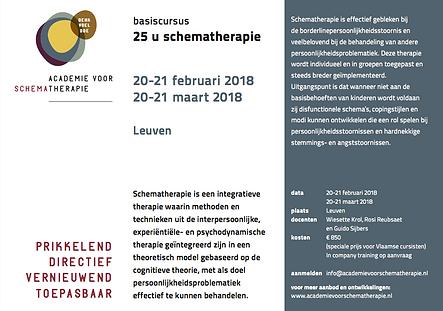 Flyer basiscursus schematherapie Leuven