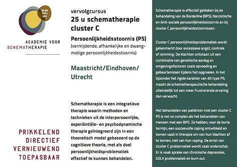 Flyer vervolgcursus Cluster C