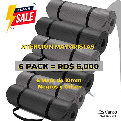6 Pack de Mats 10mm