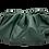 Thumbnail: Bolsa clutch em couro macio verde escuro