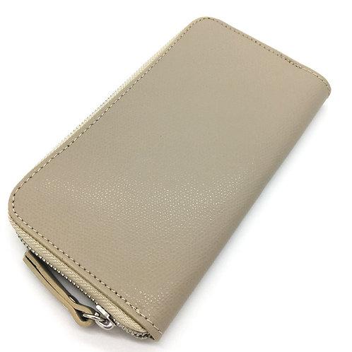 beige leather wallet