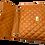 Opened classic camel leather shoulder bag