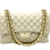 Front with straps of classic beige Leather Bag