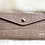 Thumbnail: Leather Wallet and card holder- Croco Beige