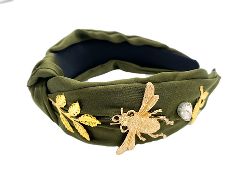 Green Forest Bug Headband