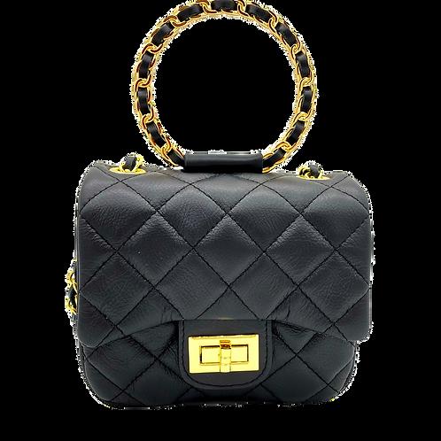 Petite Leather Bag - Black