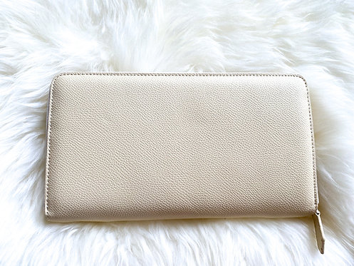 Saffiano Leather Wallet - Beige