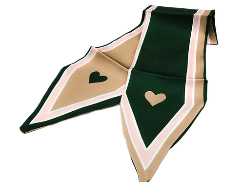 Heart Olive Green Scarf