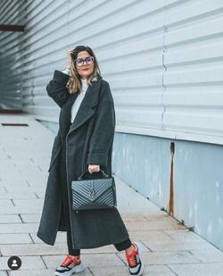 Cátia Carriço Inspired Leather Black Bag