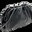 Thumbnail: Pouch Black Leather Bag - Big Size