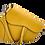 Thumbnail: Yellow Assymetric Leather Bag -Big Size