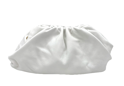 White Leather Bag - Big Size