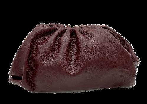 Bolsa de couro bordô - tamanho grande