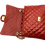 Interior of Dark Red Classic Bag in genuine leather