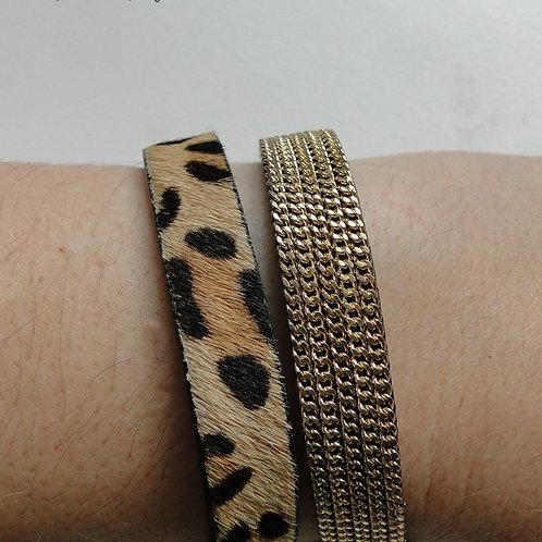 Pulseira padrão leopardo 29