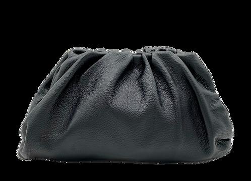 Pouch Black Leather Bag - Big Size