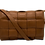 Thumbnail: Dark Camel Leather Braid Bag