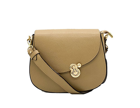 Bow Beige Leather Bag