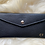 Black leather wallet personalized with initials