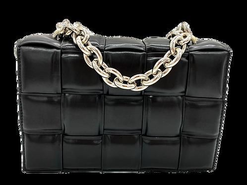 Braid Chain Black Bag