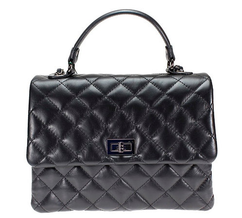 Chanel Inspired shoulder bag in black