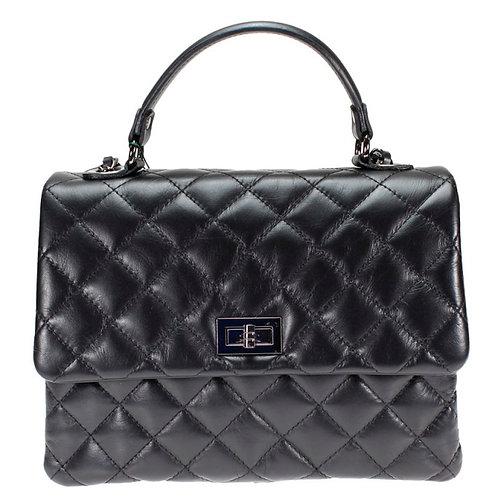 Chanel Inspired shoulder bag in black