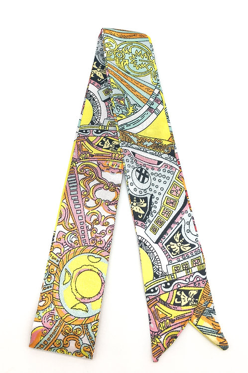 Yellow Pattern Scarf