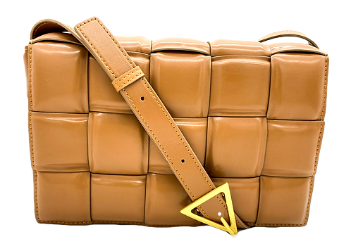 Camel braid bag with strap