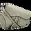 Thumbnail: Gray Assymetric Leather Bag -Big Size