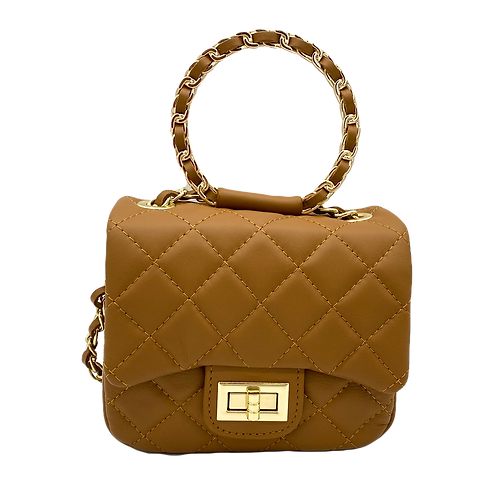 Petite Leather Bag - Camel