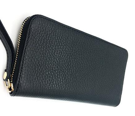 leather black wallet