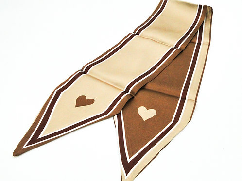 Heart Brown Scarf
