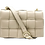 Leather strap of Braid Beige Leather Bag