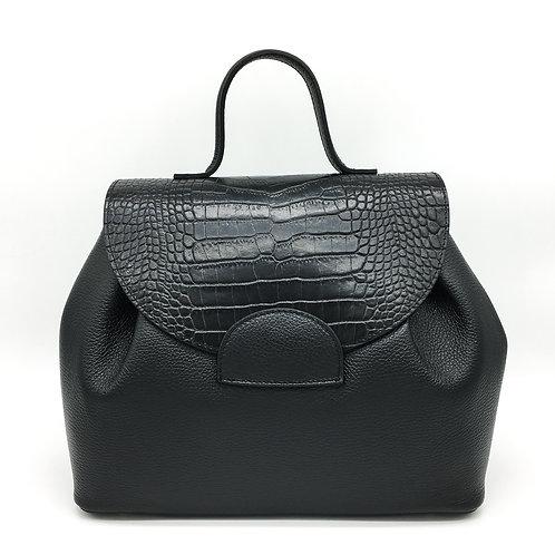 black croco leather sezane dupe bag