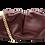 Thumbnail: Bolsa de couro bordô - tamanho grande
