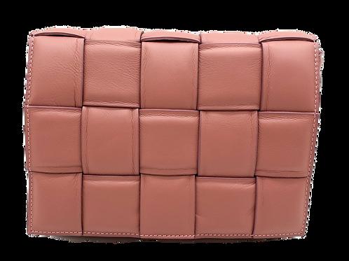 Pink Braid leather bag