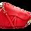 Thumbnail: Red Assymetric Leather Bag - Medium
